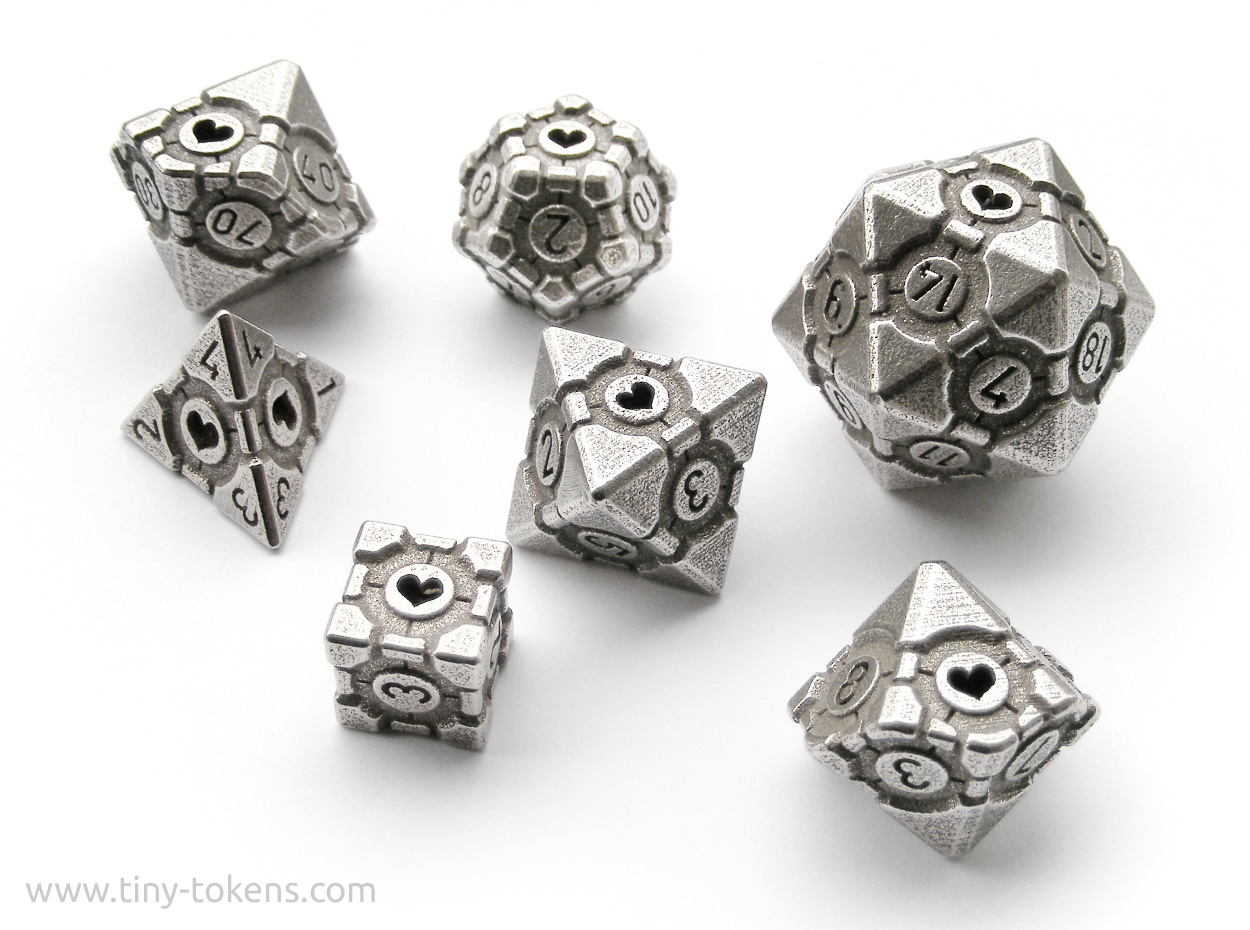 Dice Set Companion Cube
