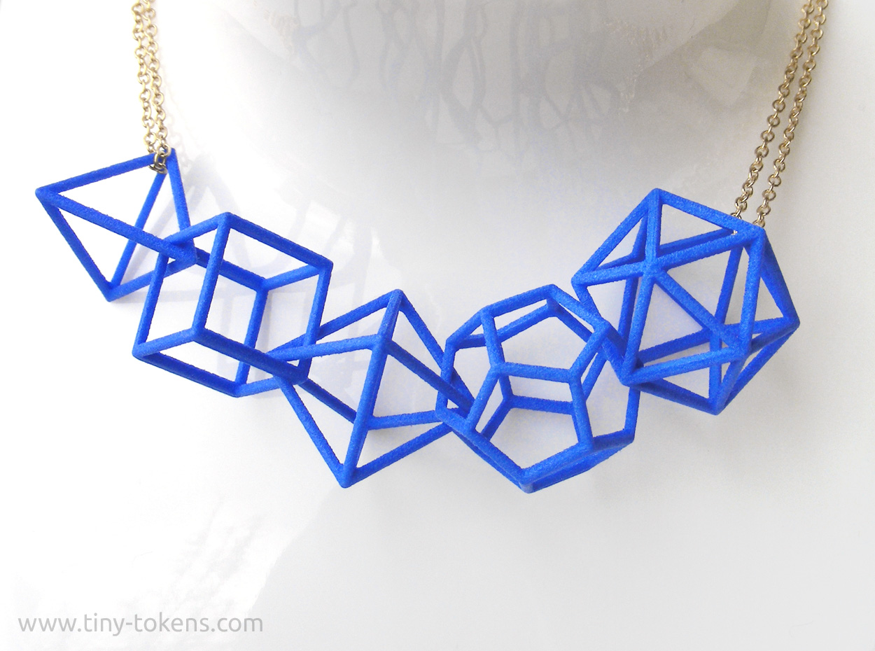 Platonic Solids Horizontal Blue