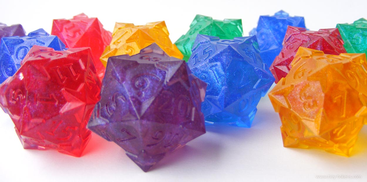 Resin Cast Dice